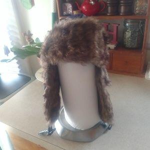 Faux fur Russian flap Winter hat/great shape